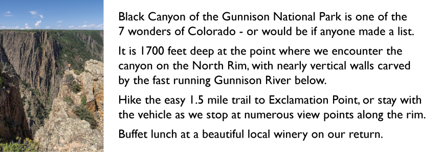 gunnison black personals Steep-sided black canyon was carved by the gunnison river, trapped within in a narrow channel of its own making  dating from the precambrian or oldest era of the earth here and there swirling .